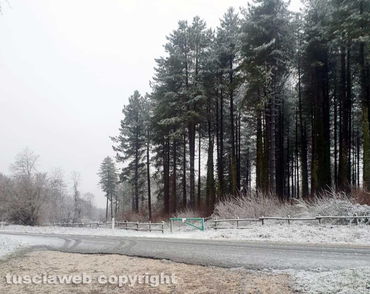 Nevica sui Cimini e sulla Cimina