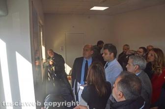 Nicola Zingaretti visita il pronto soccorso di Belcolle