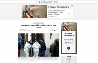 Viterbo - L'omicidio di Norveo Fedeli sui media statunitensi