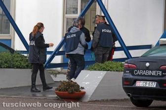 Viterbo - Omicidio in via San Luca - Carabinieri e polizia