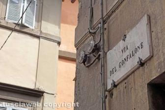 Palazzo pericolante in via del Gonfalone