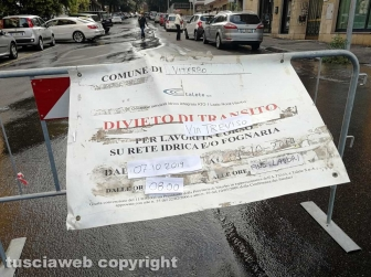 Perdita d'acqua a via Treviso
