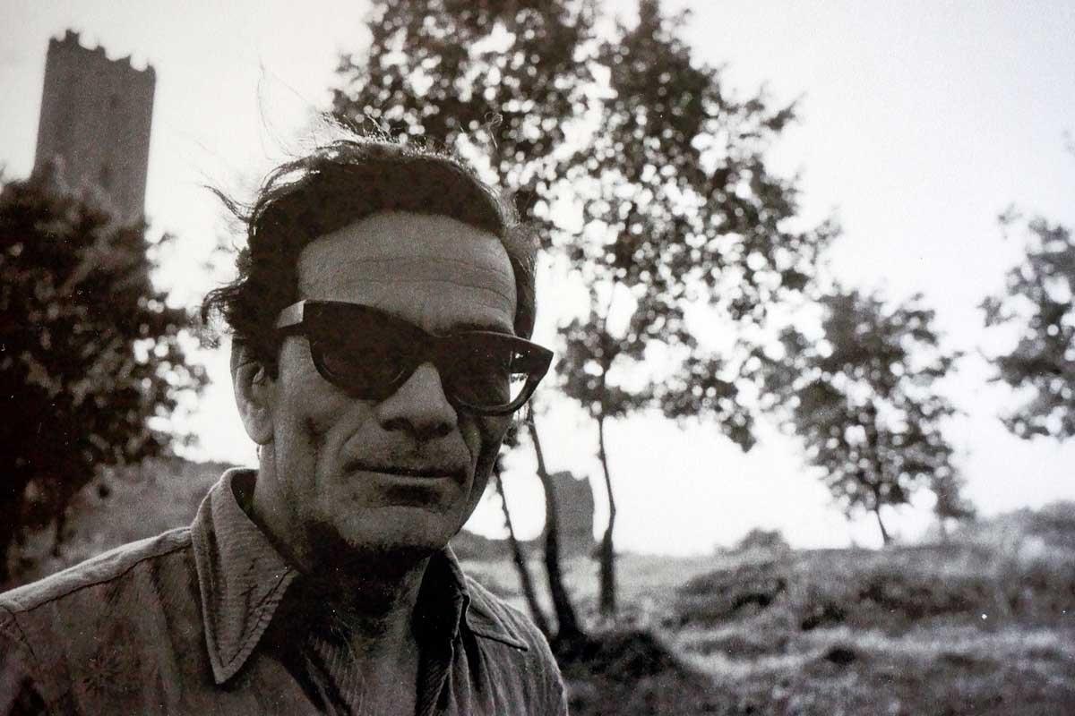 Pier Paolo Pasolini nella casa studio di Chia