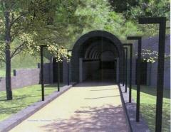 L\'ingresso dell\'ascensore per piazza San Lorenzo