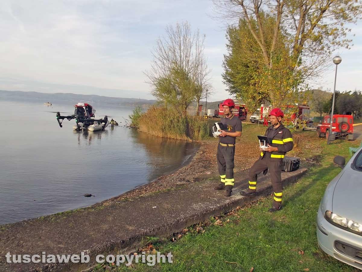 Montefiascone - Ragazzo scomparso - Le ricerche con il drone