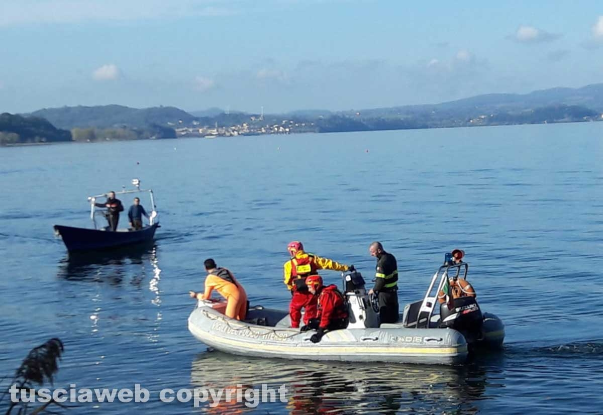 Lago di Bolsena - Le ricerche del disperso