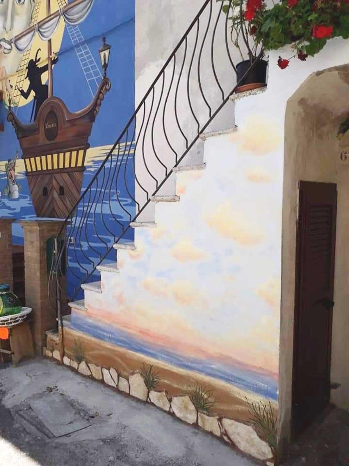 Sant'Angelo di Roccalvecce - Il murales L'alba di un nuovo giorno di Stefania Capati