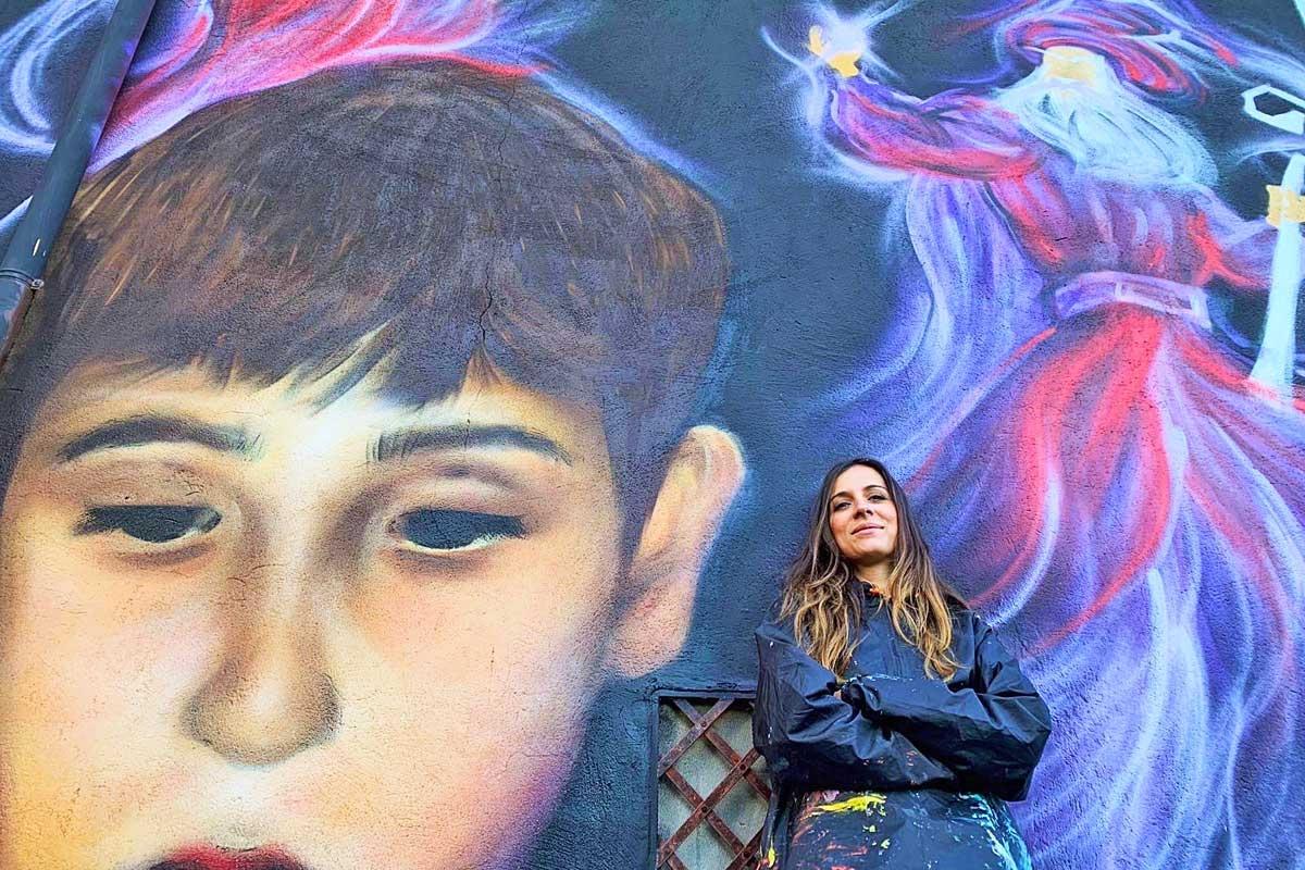 Viterbo - Il nuovo murale a Sant'Angelo di Roccalvecce
