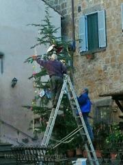 Barbarano Romano - L\'albero di Natale  fai da te...