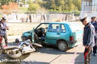 Scontro auto-moto