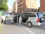 Scontro tra auto in via Alessandro Volta