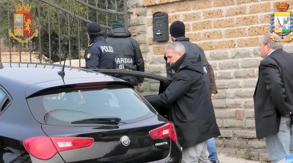 Monterosi - L'operazione di polizia e guardia di finanza