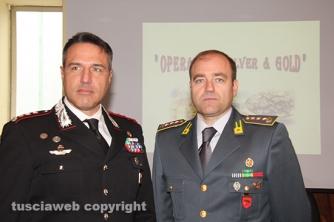 I colonnelli Mauro Conte e Giosuè Colella, comandanti provinciali dei carabinieri e della finanza