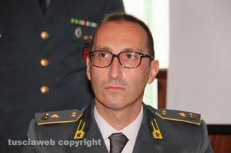Il maggiore Emiliano Sessa, comandante del Nucleo di polizia tributaria della guardia di finanza