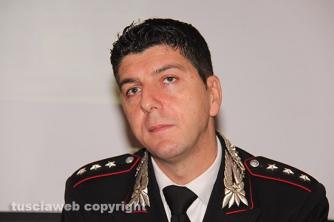 Il comandante del Nucleo investigativo dei carabinieri di Viterbo Giovanni Martufi