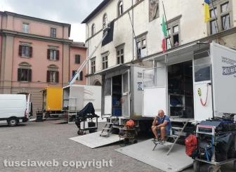 Viterbo - Sul set della serie tv Leonardo