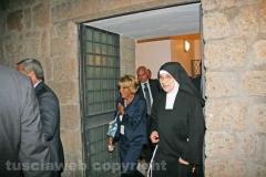 Pietro Grasso nel monastero delle clarisse
