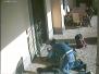 Tentato furto in villa - Le immagini degli scassinatori