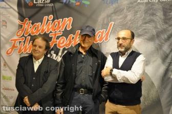 Italian Film Fest Berlin - Terence Hill con Enrico Magrelli e Mauro Morucci