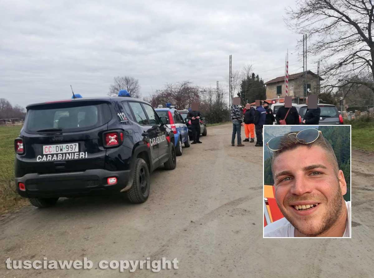 Oriolo Romano - Travolto e ucciso dal treno - Nel riquadro Andrea Trifolelli