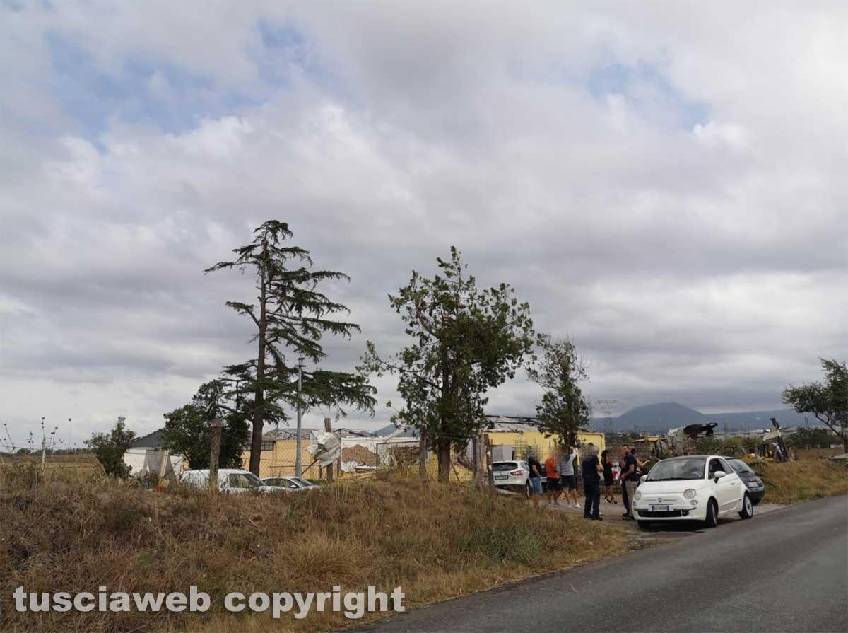 Maltempo - Tromba d'aria nella zona nord di Viterbo
