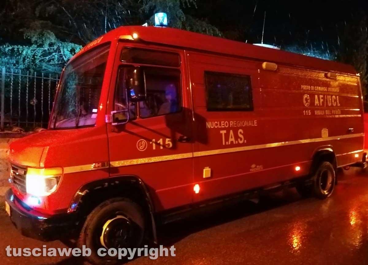 Montefiascone - Donna scomparsa, le ricerche - I vigili del fuoco