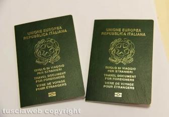 L'ufficio passaporti della questura di Viterbo