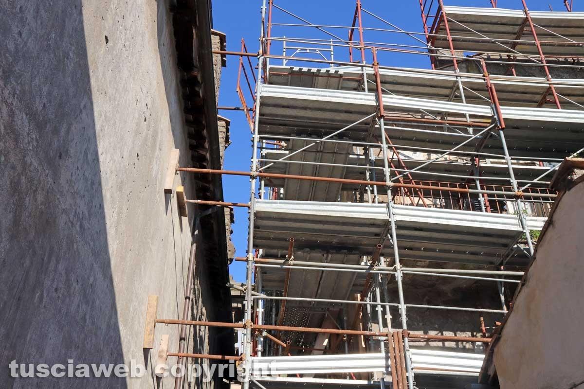 Viterbo - Via Cardinal La Fontaine - Il cantiere