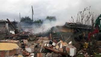 Vitorchiano - La villetta esplosa