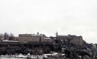 Maltempo - La neve a Viterbo - Valle Faul