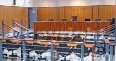 Un'aula del Palazzo di Giustizia viterbese
