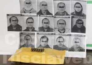 I tredici arrestati