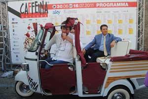 Il sindaco Marini all'inaugurazione di Caffeina 2011