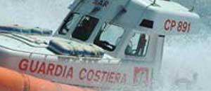 La guardia costiera in mare