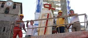 Posizionata la statua di Santa Rosa su Fiore del Cielo