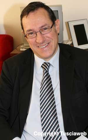Il rettore dell'Università della Tuscia Marco Mancini
