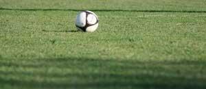 pallone da calcio in campo