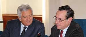 Il rettore Mancini e il prorettore Nascetti