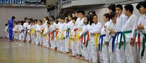 Gli atleti del Velta karate