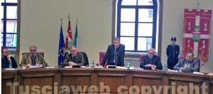 La seduta del consiglio provinciale straordinaria