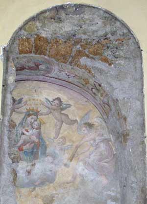 Le due nicchie decorate scoperte a Fabrica di Roma