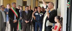 Battistoni all'inaugurazione della sede della protezione civile a Calcata