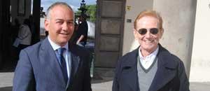 Andrea Marcosano con Osvaldo Bevilacqua