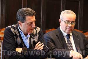 Il sindaco Marini e il consigliere Bennati
