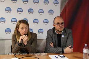 Giorgia Meloni a Viterbo con Rotelli