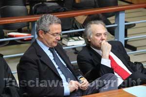 Giancarlo Gabbianelli e il suo avvocato Massimo Rao Camemi