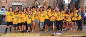 Puliamo Viterbo - Il gruppo degli scout