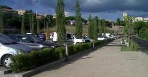 Il parcheggio a Valle Faul