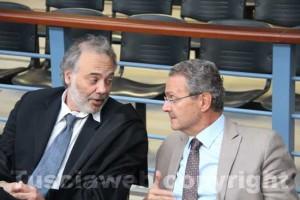 Processo Cev - L'ex sindaco Giancarlo Gabbianelli con il suo avvocato Massimo Rao Camemi