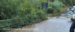 Via Carbognano allagata a Fabrica di Roma